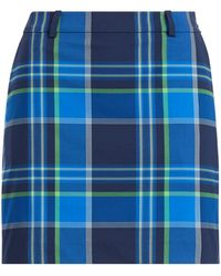 Ralph Lauren Golf - Plaid Stretch Cotton Skort - Lyst