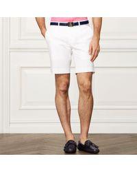 Ralph Lauren Purple Label - Cotton-blend Chino Short - Lyst