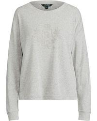 8f9da2b648be Lyst - Polo Ralph Lauren French Terry Sweatshirt in Natural