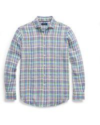 Polo Ralph Lauren - Classic Fit Plaid Linen Shirt - Lyst