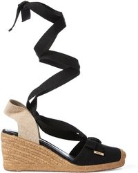 e5ac385762 Ralph Lauren Leather Aimon Sandal in Red - Lyst
