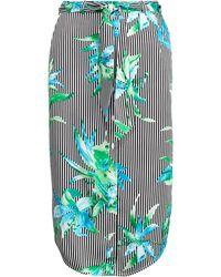 Lauren by Ralph Lauren - Floral Twill Skirt - Lyst