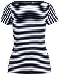 Lauren by Ralph Lauren - Square-neck T-shirt - Lyst