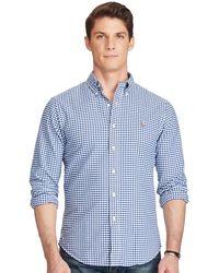 Polo Ralph Lauren | Slim-fit Gingham Oxford Shirt | Lyst