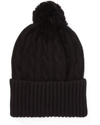 Polo Ralph Lauren - Cable Cashmere Pom-pom Hat - Lyst