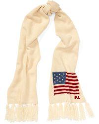Polo Ralph Lauren - Flag Fringe Wool Scarf - Lyst