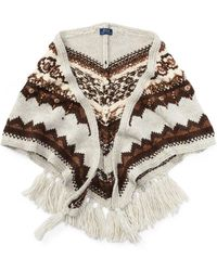 Polo Ralph Lauren - Beaded Triangle Wool Scarf - Lyst