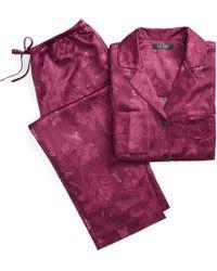 Ralph Lauren - Floral Satin Sleep Set - Lyst