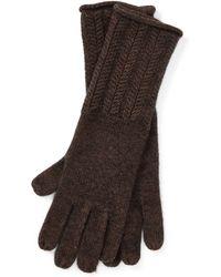 Ralph Lauren - Wool-blend Herringbone Gloves - Lyst