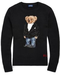 Polo Ralph Lauren - Tuxedo Bear Crewneck Sweater - Lyst