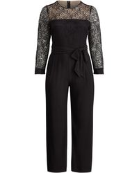 Ralph Lauren | Lace Wide-leg Jumpsuit | Lyst