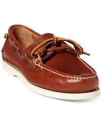 Polo Ralph Lauren - Merton Leather Boat Shoe - Lyst