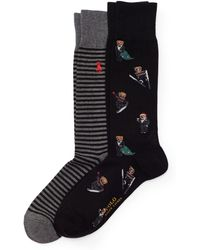 Polo Ralph Lauren - Holiday Bear Crew Sock 2-pack - Lyst