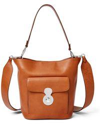 Ralph Lauren - Calfskin Mini Rl Bucket Bag - Lyst