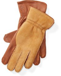 Polo Ralph Lauren - Leather-shearling Gloves - Lyst