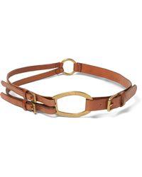 Ralph Lauren - Tri-strap Leather Belt - Lyst