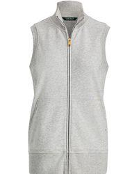 Ralph Lauren - French Terry Full-zip Vest - Lyst