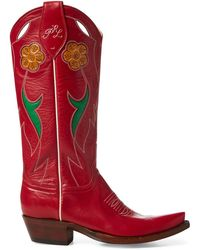 Polo Ralph Lauren - Selene Leather Cowboy Boot - Lyst