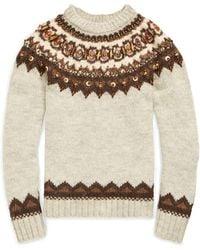 Polo Ralph Lauren - Beaded Fair Isle Sweater - Lyst