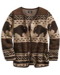 RRL - Print Fleece Liner Jacket - Lyst