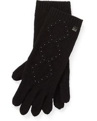 Ralph Lauren - Cable-knit Tech Gloves - Lyst