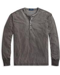 Polo Ralph Lauren - Cotton Jersey Henley Shirt - Lyst