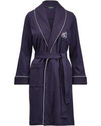 Ralph Lauren - Quilted-collar Cotton Robe - Lyst