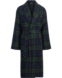 Polo Ralph Lauren - Black Watch Flannel Robe - Lyst