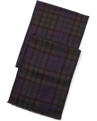 Ralph Lauren Purple Label - Plaid Scarf - Lyst