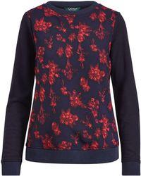 Ralph Lauren - Georgette-front Sweatshirt - Lyst
