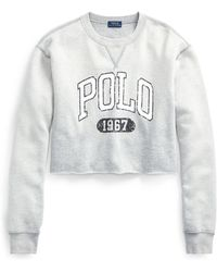 Polo Ralph Lauren - Polo Cropped Fleece Sweatshirt - Lyst