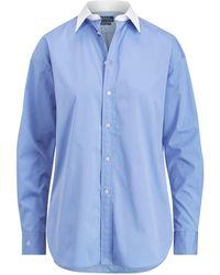 Polo Ralph Lauren   Poplin Boyfriend Shirt   Lyst