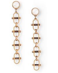 Ralph Lauren - Equestrian Crystal Earrings - Lyst