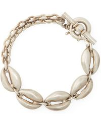 Ralph Lauren - Silver-plated Shell Bracelet - Lyst