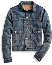 RRL - Cotton Denim Jacket - Lyst