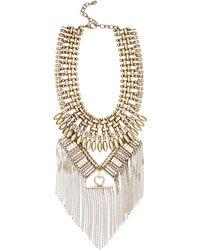 Ralph Lauren - Fringe Chain Necklace - Lyst