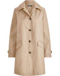 Ralph Lauren - Hooded Trench Coat - Lyst