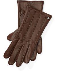 Ralph Lauren - Laced Leather Tech Gloves - Lyst