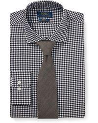 15e7544960493 Lyst - Polo Ralph Lauren Slim Fit Striped Poplin Shirt in Blue for Men