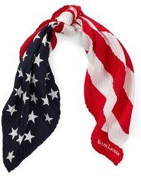 Polo Ralph Lauren - Pleated Flag Silk Bandanna - Lyst