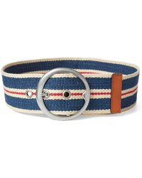 Polo Ralph Lauren - Striped Webbed Wide Belt - Lyst