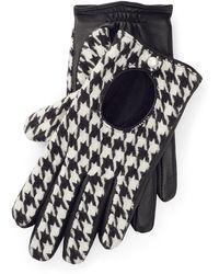 Ralph Lauren - Houndstooth Tech Gloves - Lyst