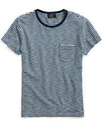 8bebb819 RRL - Striped Cotton Jersey T-shirt - Lyst