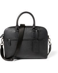 Polo Ralph Lauren - Pebbled Leather Briefcase - Lyst