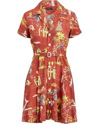 59f89721a41 Polo Ralph Lauren - Tropical Fit-and-flare Dress - Lyst