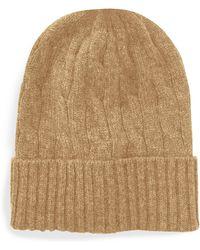 9ecd9b23c27 Polo Ralph Lauren - Cable-knit Cashmere Beanie - Lyst