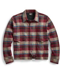 RRL - Plaid Wool-cashmere Jacket - Lyst