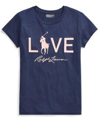 Polo Ralph Lauren - Pink Pony Graphic Cotton T-shirt - Lyst