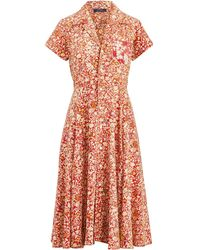 d996f5a8b91e Polo Ralph Lauren - Floral Fit-and-flare Dress - Lyst
