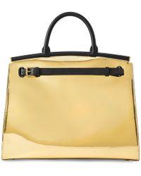 35856e02c131 Ralph Lauren Patent Large Rl50 Handbag in Black - Lyst